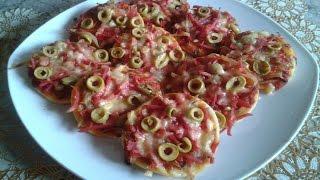 getlinkyoutube.com-طريقة تحضير البيتزا الصغيرة ميني بيتزا