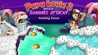 getlinkyoutube.com-Papa Louie 3: When Sundaes Attack Full Gameplay Walkthrough