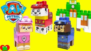 getlinkyoutube.com-Paw Patrol Adventure Bay and Rescue Marshall Ionix Blocks Set