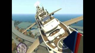 getlinkyoutube.com-Big yacht the flyng boat gta4 Montage TITANIC