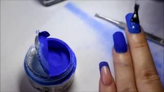 getlinkyoutube.com-Nail Art Acrylic Blue Nails !!! Model cu praf acrylic ! unghii de acryl