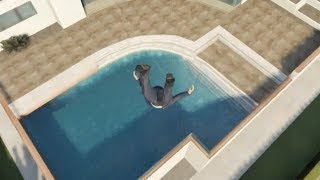 GTA 5 - Skydiving Into Pools!