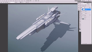 getlinkyoutube.com-Pene Menn : Concept Art - Space Ship Tutorial 1 ( painting)
