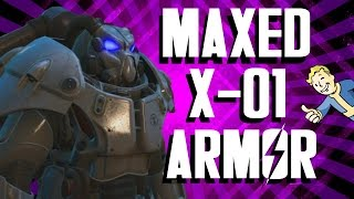 getlinkyoutube.com-Fallout 4 - Maxed X-01 Power Armor Setup and Gameplay