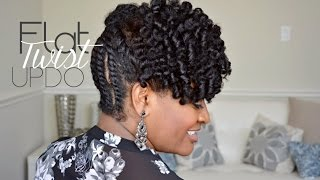 getlinkyoutube.com-| 103 | Simple Flat Twist Updo on Natural Hair
