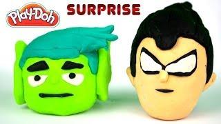 getlinkyoutube.com-Play-doh Teen Titans Go!, Angry Birds, Spiderman Power Gogo's Surprises