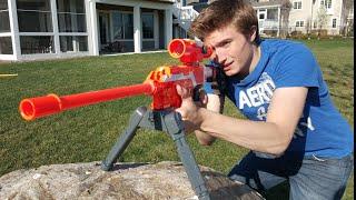 getlinkyoutube.com-Nerf War: Sniper vs Sniper