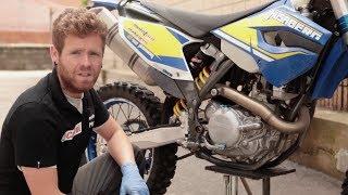 Cambio de aceite moto motor 4T, por EnduroPro