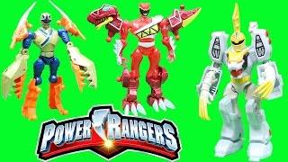 getlinkyoutube.com-POWER RANGER MIXX N MORPH WHITE RANGER and TIGERZORD Adventure with Red & Gold Power Rangers!