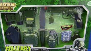 getlinkyoutube.com-Toys for kids ! Toy Gun Military set