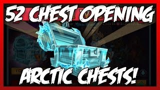 "getlinkyoutube.com-Knights and Dragons - ""CHEST OPENING"" 52 Arctic Chests! NEW Frostbitten Wolfhide+!"