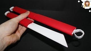 getlinkyoutube.com-Como fazer Kunai de Papel - Espadas de Papel