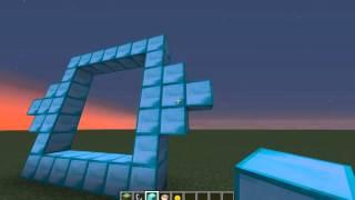 getlinkyoutube.com-كيف تدخل عالم الالماس وعمل بوابة الالماس ماين كرافت && minecraft diamond
