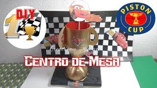 getlinkyoutube.com-Dulcero o Centro de Mesa de Cars Trofeo  Día del Padre Regalo/ Cars Centrepiece