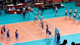 Men's Volleyball: Russia VS. Brazil Warm Up - 2012 London Olympics