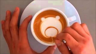 getlinkyoutube.com-ラテアート クマ 作り方 latteart カプチーノ