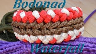 "getlinkyoutube.com-Паракорд Плетение браслета ""Водопад"" (Paracord bracelet Wide waterfall)"