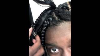 getlinkyoutube.com-DIY Rubber band method box braids part 1