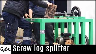 getlinkyoutube.com-Screw log splitter