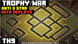 Clash Of Clans: TH9 WAR BASE 2015 [Diablo]