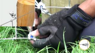 Securing Stock Netting at an End Post - Gripple T-Clip