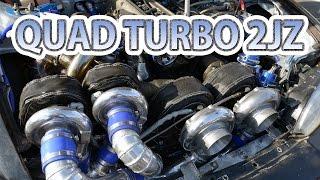 getlinkyoutube.com-Quad-turbo 2JZ first test drive. Caroline Racing's S14 Silvia