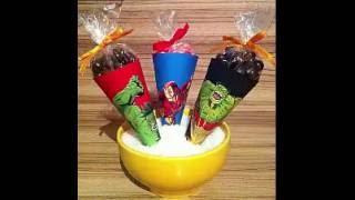getlinkyoutube.com-Como fazer cone de papel para doces!!