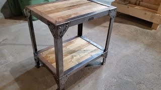 getlinkyoutube.com-Making a Wood and Metal Side Table