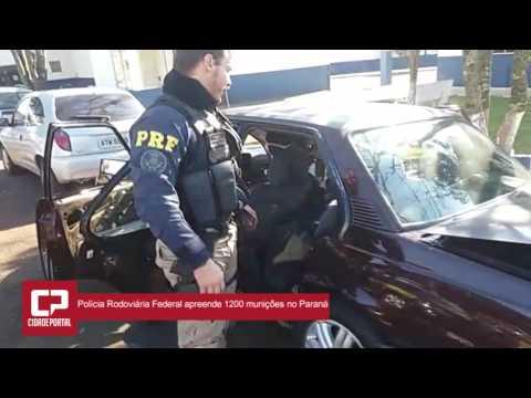 Polícia Rodoviária Federal prende casal com mais de 1,2 mil munições em fundo falso