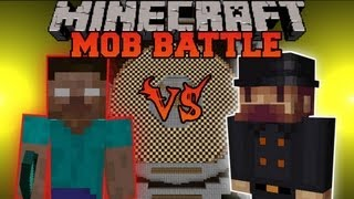 getlinkyoutube.com-HEROBRINE VS. NOTCH - Minecraft Mob Battles - Arena Battle - More Notchs Mod