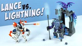 getlinkyoutube.com-LEGO NEXO Knights Lance vs. Lightning with Robot Horse and Grimroc
