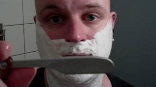 getlinkyoutube.com-Straight razor Feather shave
