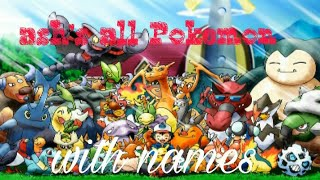 Pokemon ash's pokemon with names