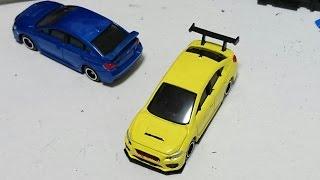 getlinkyoutube.com-【トミカ改造 特別編1】スバル WRX sti  本物の自動車の塗料で塗装してきた