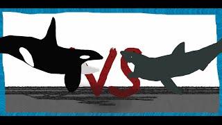 getlinkyoutube.com-Pivot Battle Arena: Orca VS Great White shark