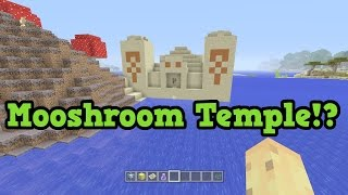 getlinkyoutube.com-Minecraft Xbox 360 / PS3 - MUSHROOM BIOME TEMPLE SEED