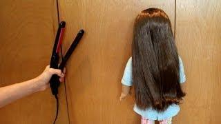 getlinkyoutube.com-How to Straighten your AG Doll's Hair!