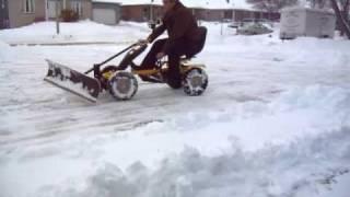 getlinkyoutube.com-Human Powered Snow Plow 1A