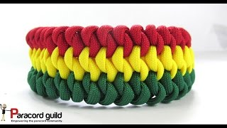 getlinkyoutube.com-3 color Mated snake knot paracord bracelet