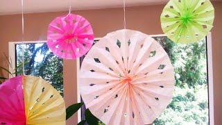 getlinkyoutube.com-DIY Tissue Paper Rosette Fans
