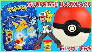 getlinkyoutube.com-POKEMON GO Poke Ball GIANT Play Doh Surprise Egg Trainer + Pokemon Backpack and Cards Pokemon Go