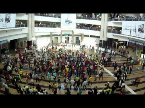 Flash Mob O.R Tambo International Airport, Jhb, South Africa, Mnet 25th Birthday