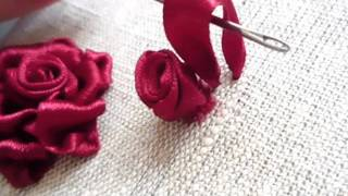 getlinkyoutube.com-Мастер-класс по вышивке лентами №1.Tutorial for embroidery.