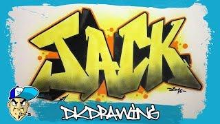 getlinkyoutube.com-How to draw graffiti names - Jack #19