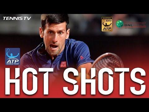 Hot Shot: Djokovic Flicks Backhand Pass At Rome 2017