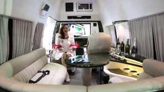 ตกแต่งรถตู้ รูปลักษณ์ภายในรถตู้ หรูหรา พร้อมระบบเครื่องเสียงอันทันสมัย - Limo Lounge