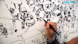 getlinkyoutube.com-김정기 Kim Jung Gi Drawing show in France