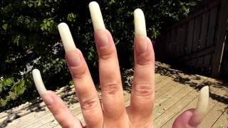 getlinkyoutube.com-June Update On My Long Natural Nails. Bare - No Nail Polish