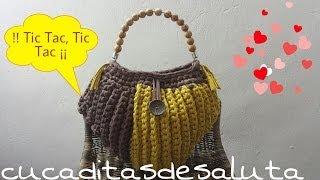 Bolso de Trapillo /Forma Corazón !! Efectos Surcos ¡¡ - Handbag of Heab Form
