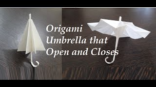 getlinkyoutube.com-Origami Umbrella | THAT OPEN AND CLOSES